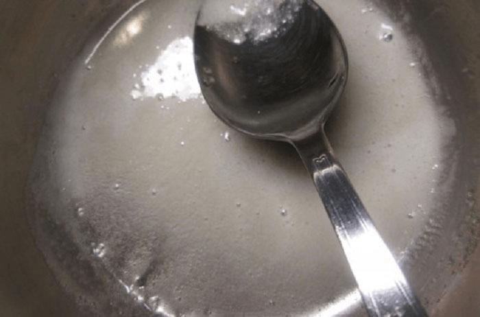 Нагревание желатина