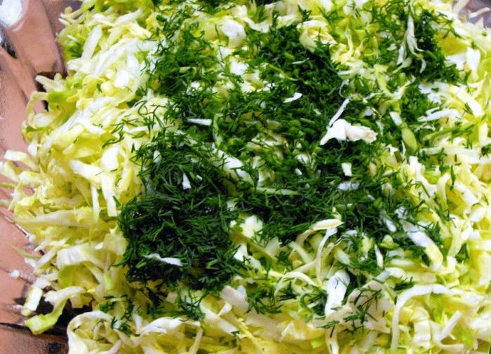 Капуста с зеленью