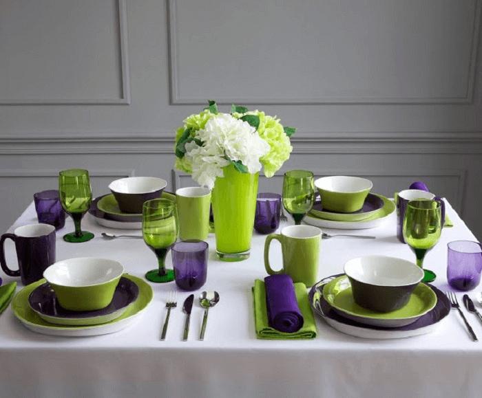 Сервировка стола к завтраку: технология и схема