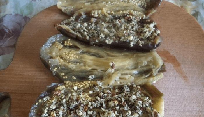 Фаршируем овощи ореховой смесью