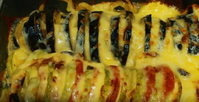 Овощи запеченные с сыром в духовке – картинка