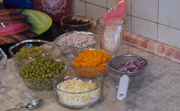 Ингредиенты классического салата