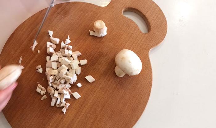 Мелко нарезанные грибы