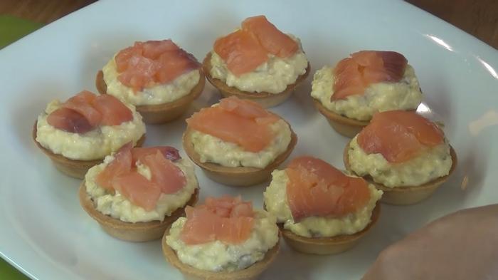 Начинка для тарталетки с красной рыбы