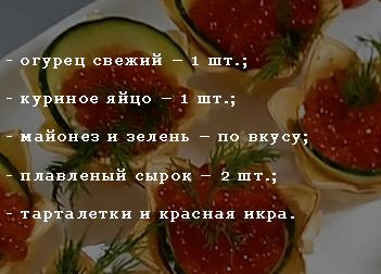 Начинка с красной икрой – ингредиенты