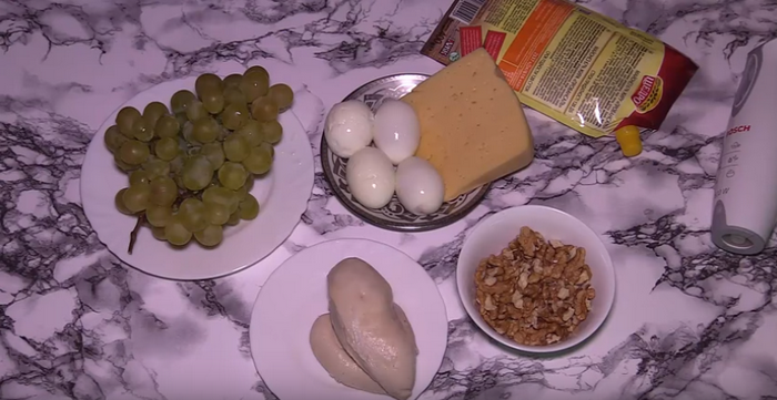 Ингредиенты для салата «Тиффани»