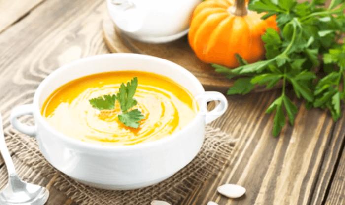 Тыквенный суп-пюре с курицей – картинка