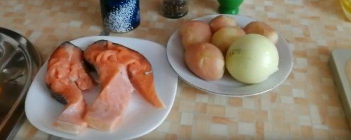 Продукты для семги с картошкой