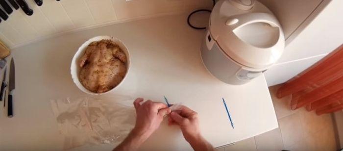 Приготовление терморукава для запикания