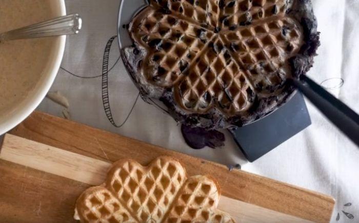 Вафли в вафельнице без яиц и молока
