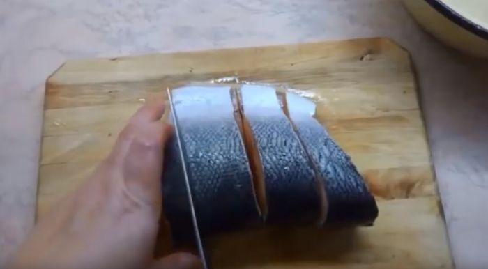 Порционные куски семги