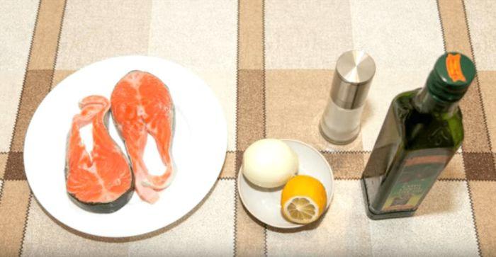 Ингредиенты для семги