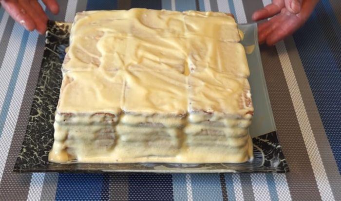 Изготовление торта по слоям