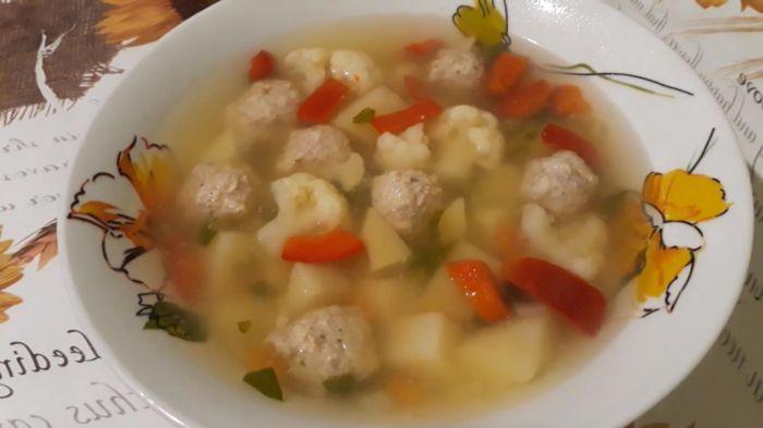 Суп из фарша индейки