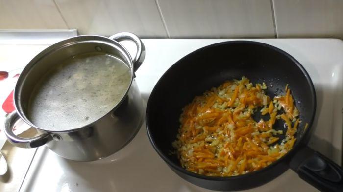 Пассирование овощей с маслом
