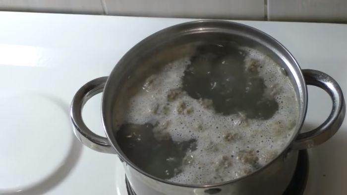 Кипяток с фрикадельками