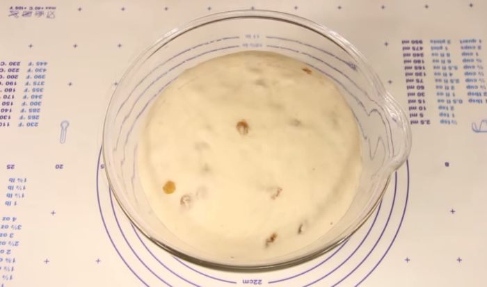 Готовое тесто в миске