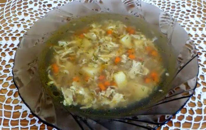 Суп гречневый с яйцом – картинка