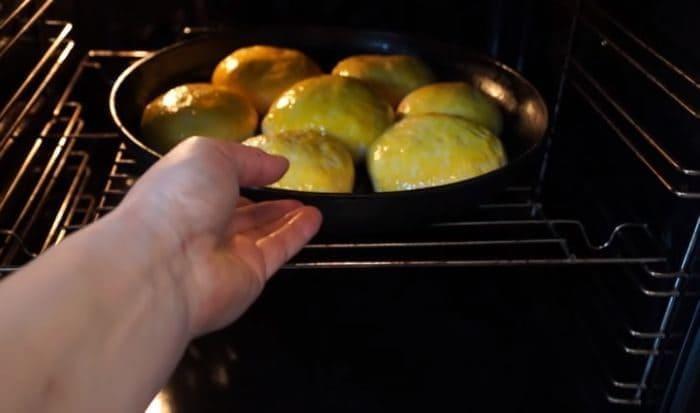 Булки в духовке для выпекания