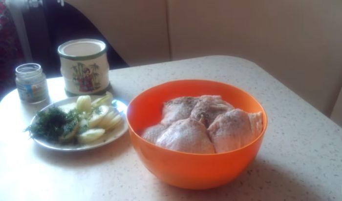 Подготовка ингредиентов для маринада