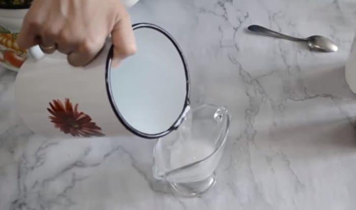 Разведенная соль и лимонная кислота