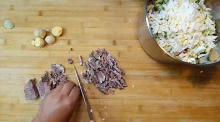 Нарезание свинины
