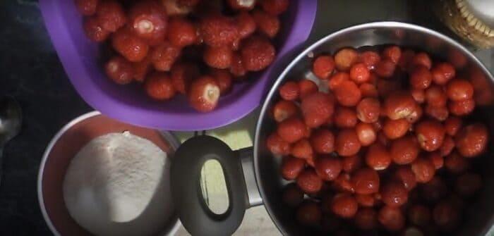 Ингредиенты для варенья из клубники с желатином