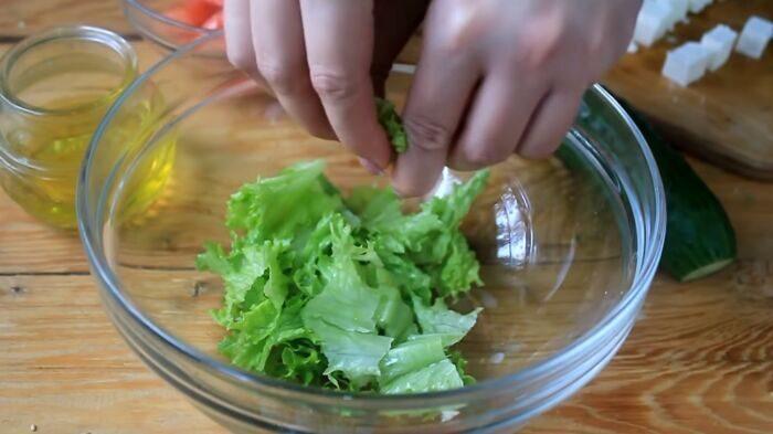Приготовленная зелень