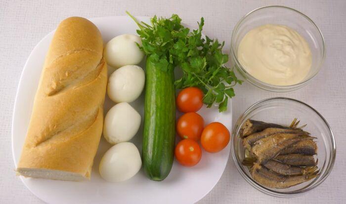 Продукты для бутербродов на праздничный стол