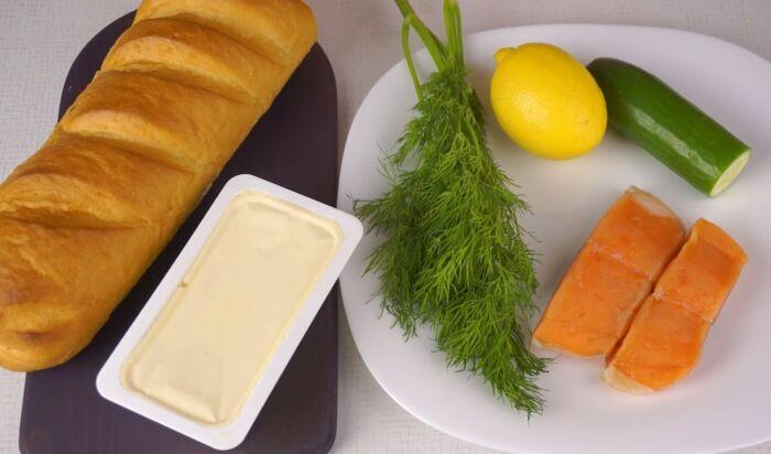 Продукты для интересных бутербродов на праздничный стол